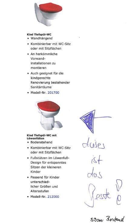 Tiefspül-WC mit Löwenfüssen!?