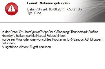 Thunderbird Malware frisst 22GB Speicher?