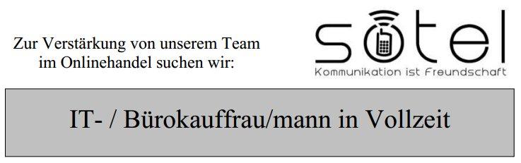 Wir suchen: IT- / Bürokauffrau/mann für Vollzeitstelle in Kitzingen